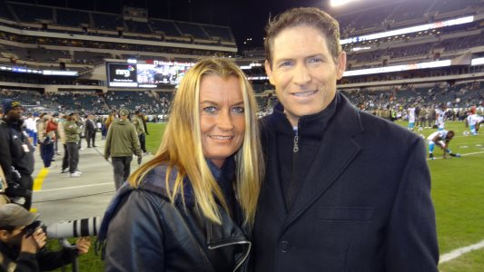 Lydia with Steve Young